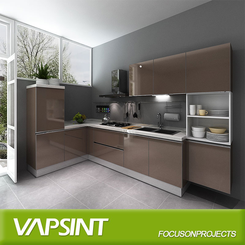 L Shaped Modern Kitchen Wall Hanging Cabinets - Buy Modern ...