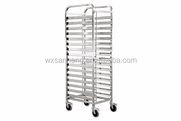 cheap and quality Stainless Steel baking tool GN pan trolley