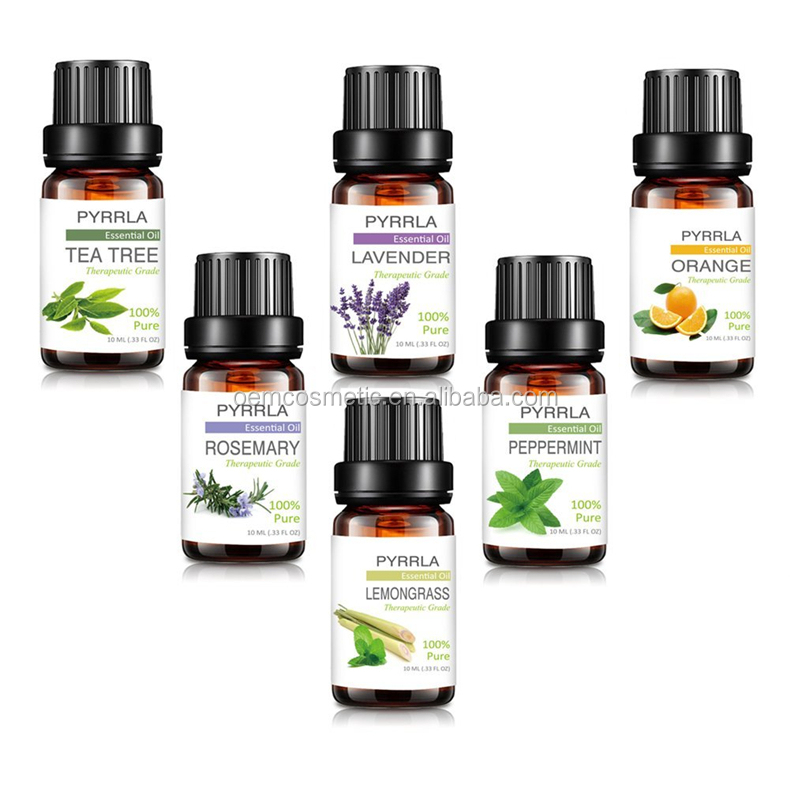 Best seller 10ML 6 piece gift set essential oils msds pure natural essential oils for aroma diffuser and Therapeutic