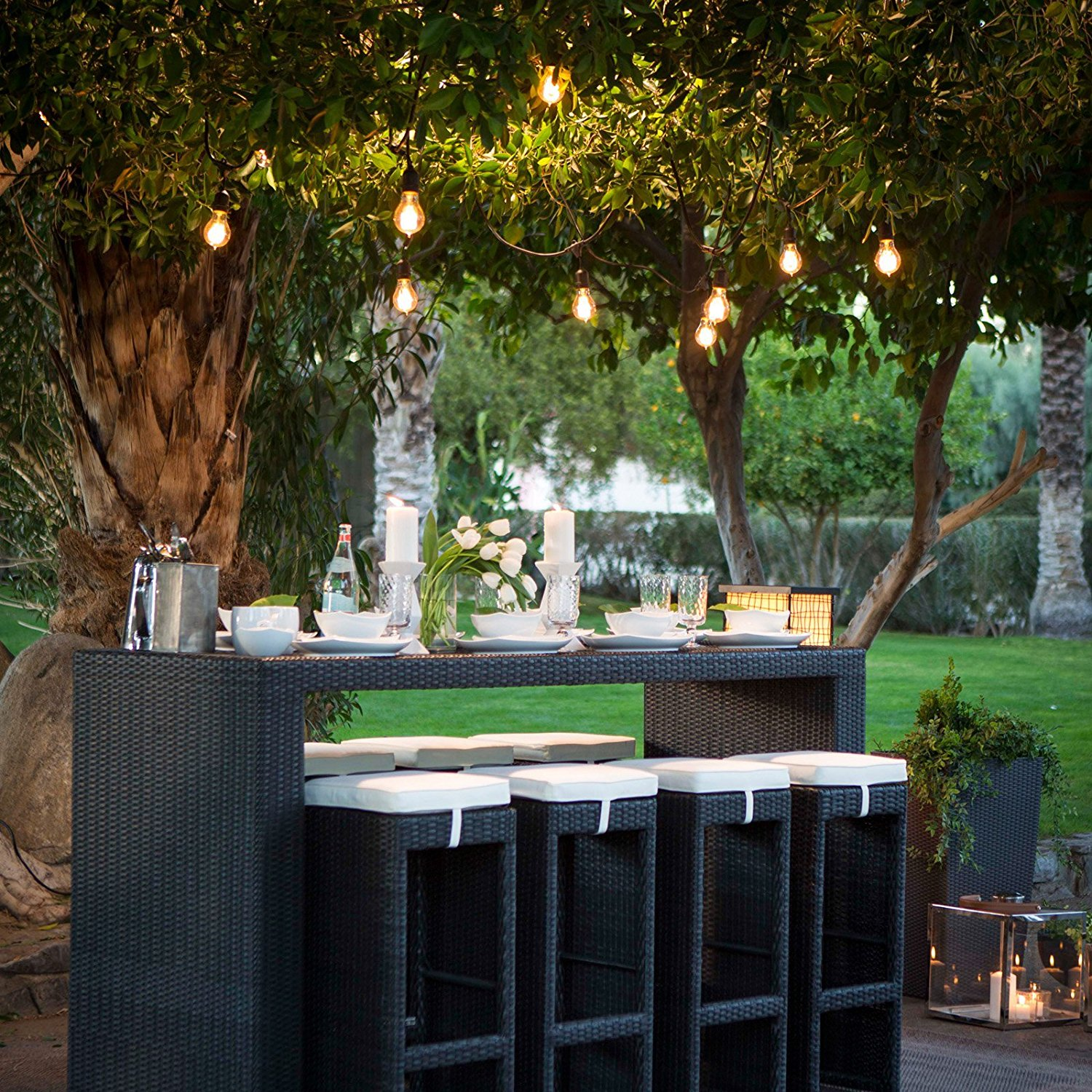 Outdoor Patio String Lights For Parties, Weddings  Perfect For Gazebo,  Decks, Patio
