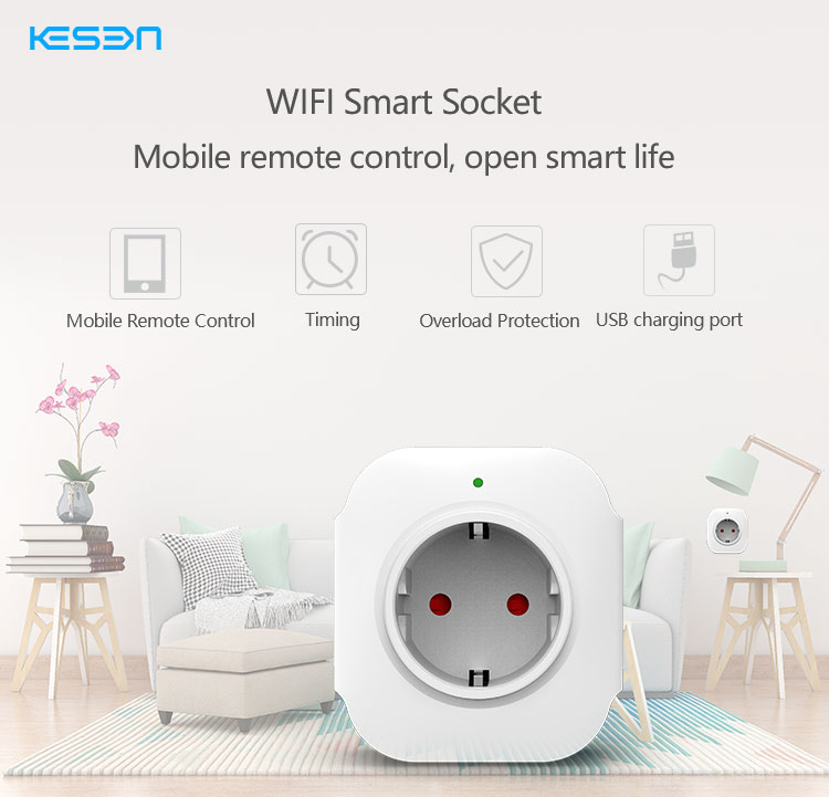 2018 new product smart wifi socket , remote control wifi smart socket Android IOS EU UK US standard