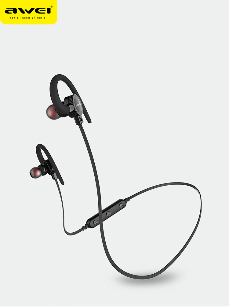 619e3cb298a AWEI B925BL bluetooth earphone/fashion portable earbuds wholesale  waterproof mic metal sport wireless bluetooth headsets