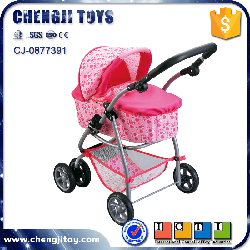 Precise Doll Stroller Doll Trolley Toy Simulated Stroller For Indoor Outdoor Use Four Wheels Stroller