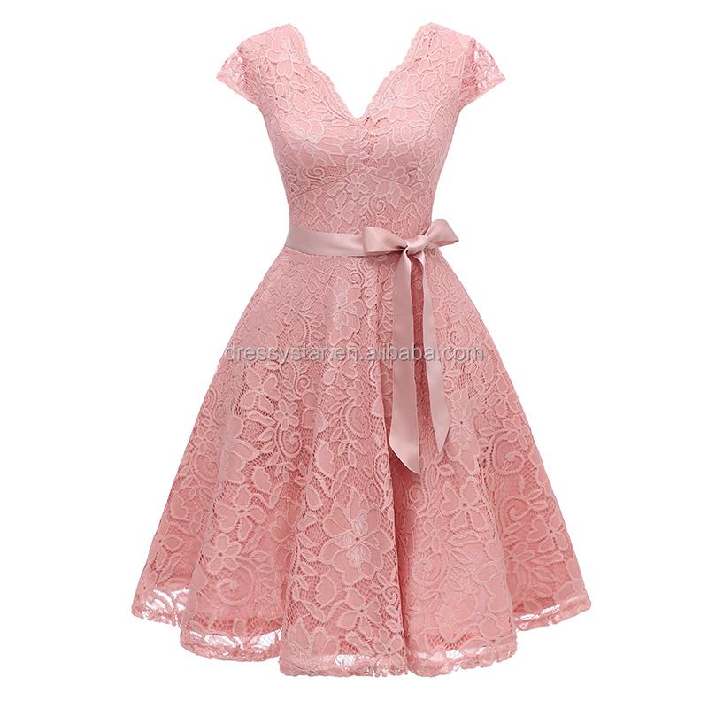 Venta al por mayor vestido invitados boda-Compre online los mejores ...