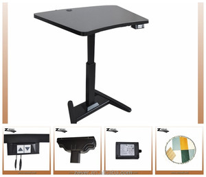Single leg smart sit and stand table