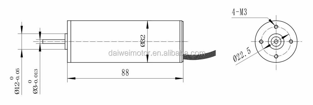 32mm 24v 5000 r gime un couple lev faible bruit de moteur brushless dc dv32rbl 245550 buy. Black Bedroom Furniture Sets. Home Design Ideas