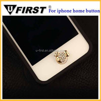 fish Bling Phone Home Button Sticker Custom Home Button Sticker for Apple