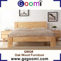 Goomi Northern Europe Style Bedroom furniture G903# Solid Wood Double Bed