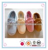fake leather material with shoelace ladies' slippers shoes
