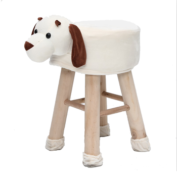 Fabulous Unfolded Wooden Stool With 4 Legs With Fabric Covered Animal Stool Soft Velvet Kids Stools Buy Buy Childs Wooden Stools Round Ottoman Stool Wood Pdpeps Interior Chair Design Pdpepsorg