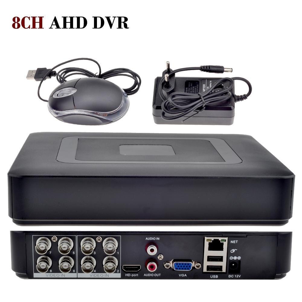 AZISHN 8ch ahd dvr h 264 1080n 4ch analog 1080p 16ch ip 1080p mini 5 in 1 tvi cvi ahd 960h ip hdmi p2p hybrid cctv dvr