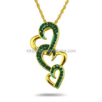 Oro esmeralda zircon collar colgante triple corazn buy product on oro esmeralda zircon collar colgante triple corazn aloadofball Images