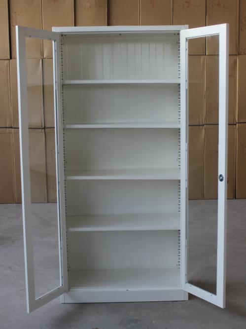 Moderne Meubles Kd Métal Porte En Verre Bibliothèques Cabinet Avec - Bibliothèque avec porte