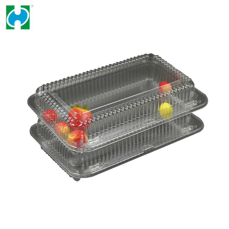 Custom Disposable Easy Green Packaging Food Box Plastic Storage Transparent PVC Material