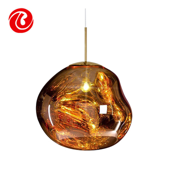 Hot Energy Saving Contemporary Gold Color Gl Pendant Lights Product On