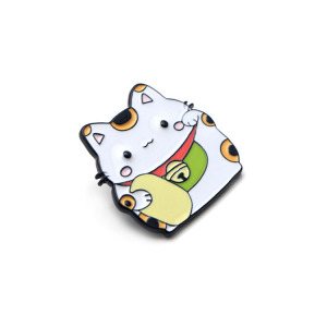 2019 new product soft hard enamel cat logo metal lapel pin medal