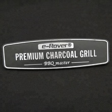 OEM Custom Metal Highlight Logo Embossed Aluminum Name Plate Label