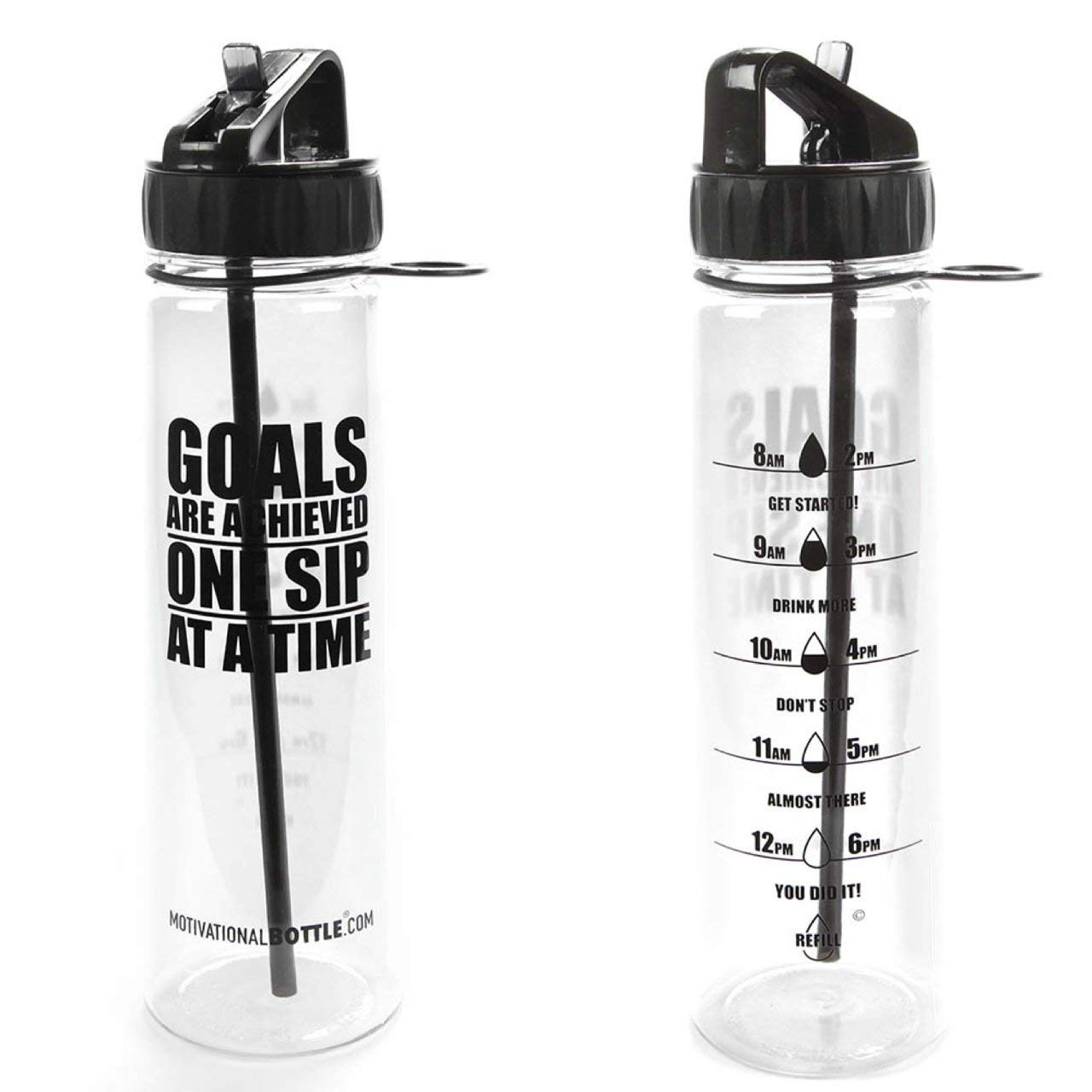 019ccb9964 Get Quotations · 30oz Motivational Bottle Fitness Workout Sports Water  Bottle with Unique Timeline | Measurements | Goal Marked