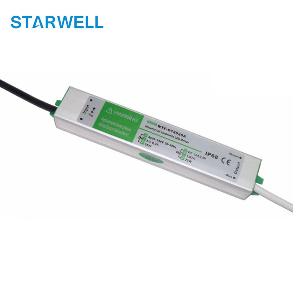 constant voltage waterproof electronic led driver IP67 CE RoHS approved 12V 100W