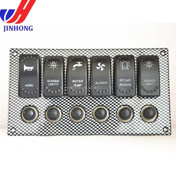 Schalter 12 Volt Mit Beleuchtung | Marine Boot Light Rocker Switch Panel 12 Volt Hauptverteiler