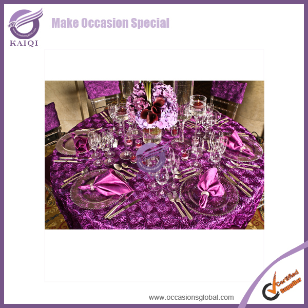 #19805 rubber table cloth for cherry blossom wedding decor