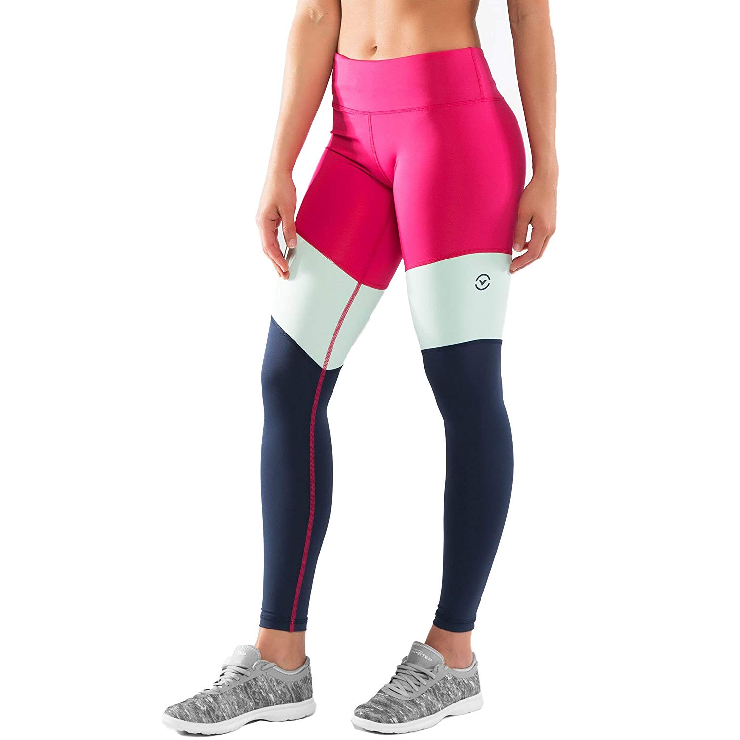 41dbfd0fa6 Get Quotations · Virus Women's Stay Cool Tri-Color Compression Pant (ECO41)  Raspberry/Navy