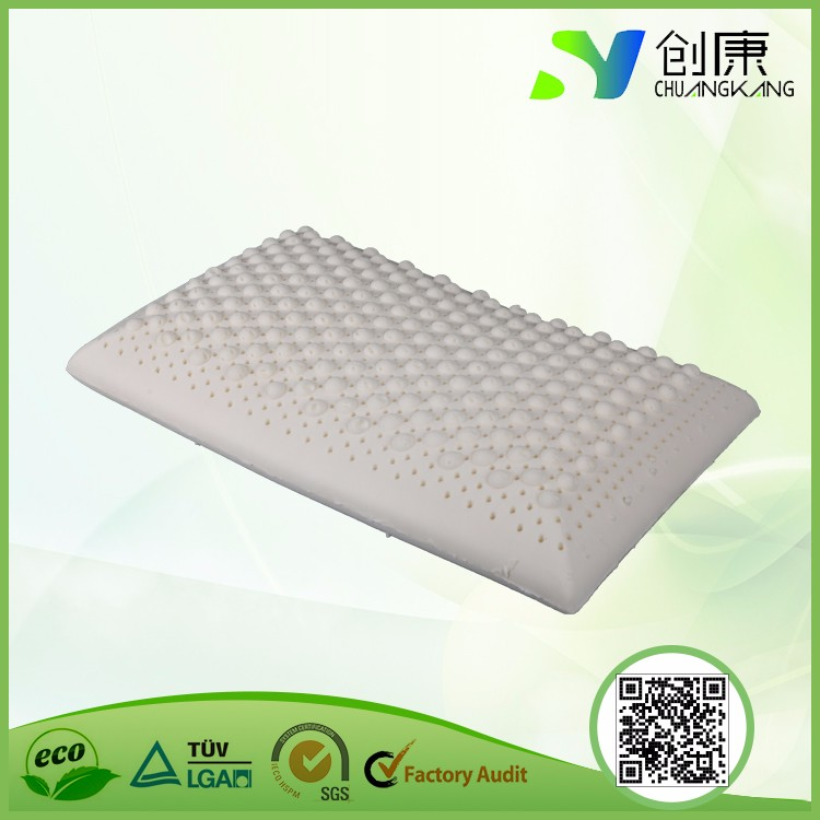 New product 100% natural latex breathable and comfortable message bread latex pillow
