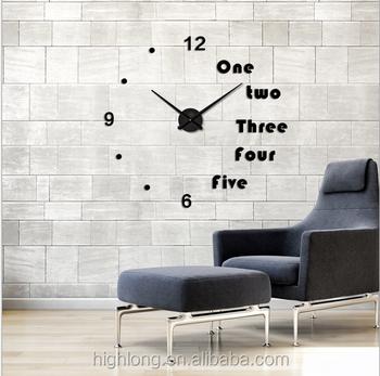 Quartz Type Children Diy Wall Clock Modern Design 3d Eva Sticker ...