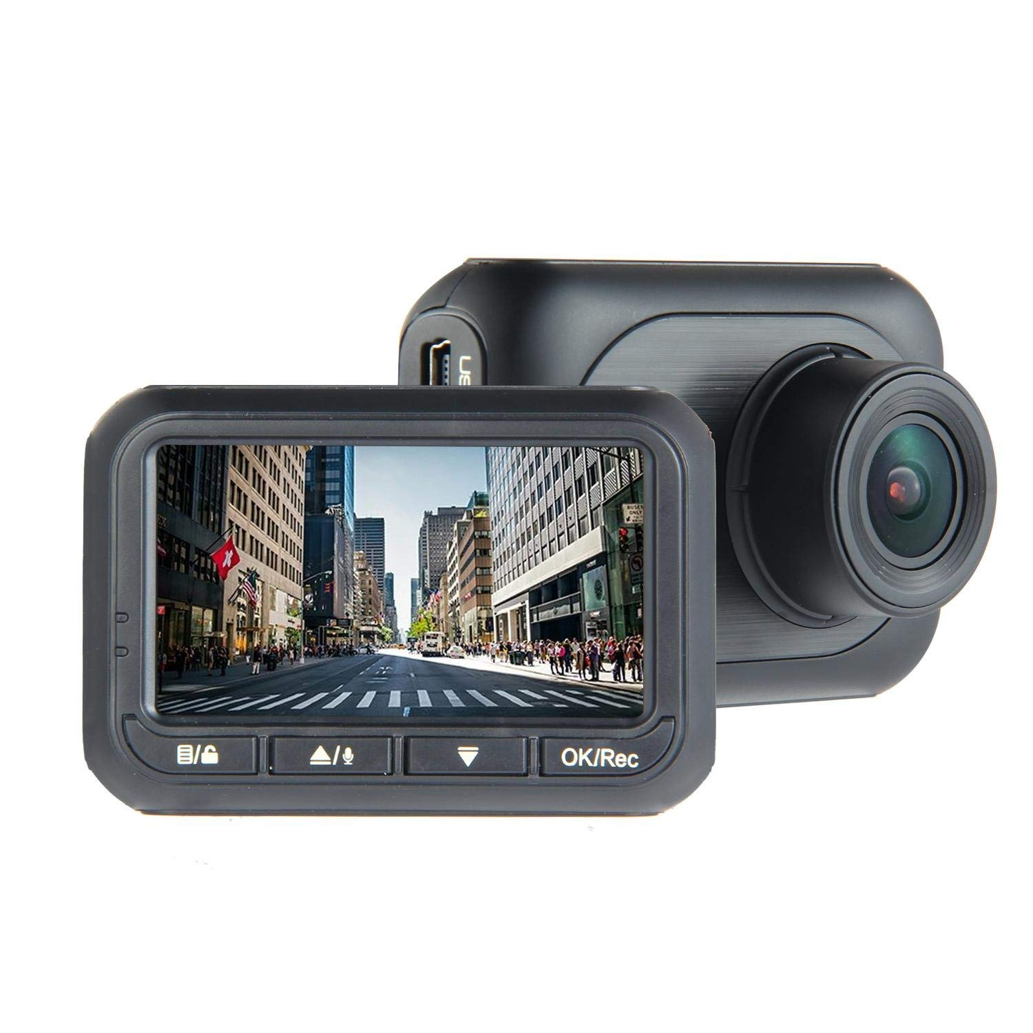 """Teepao Small Dash Cam,Dash Cam Wifi Car Camera Recorder 1080P,Dash Cam Kit,Camera Dash Cam In Car 1080P HD Driving Video Recorder 2.45"""" IPS Display with Front and Rear Camera"""