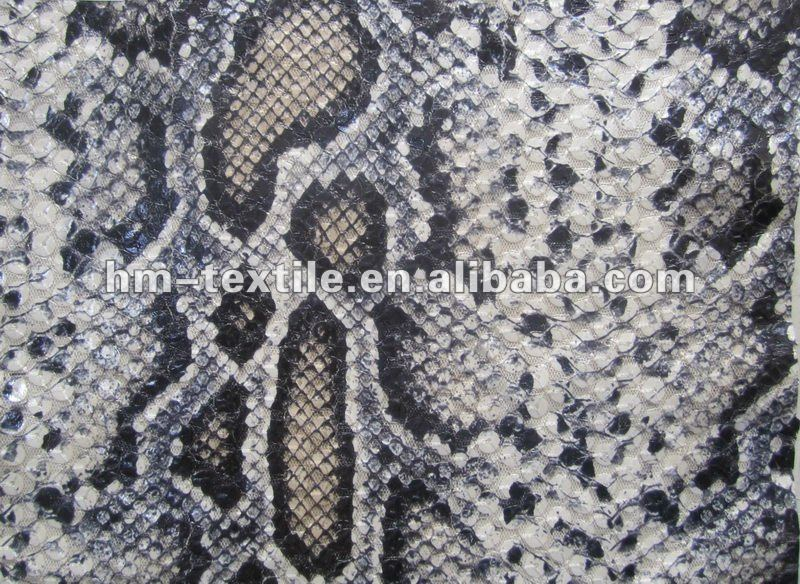 snake printed on sequin fabric