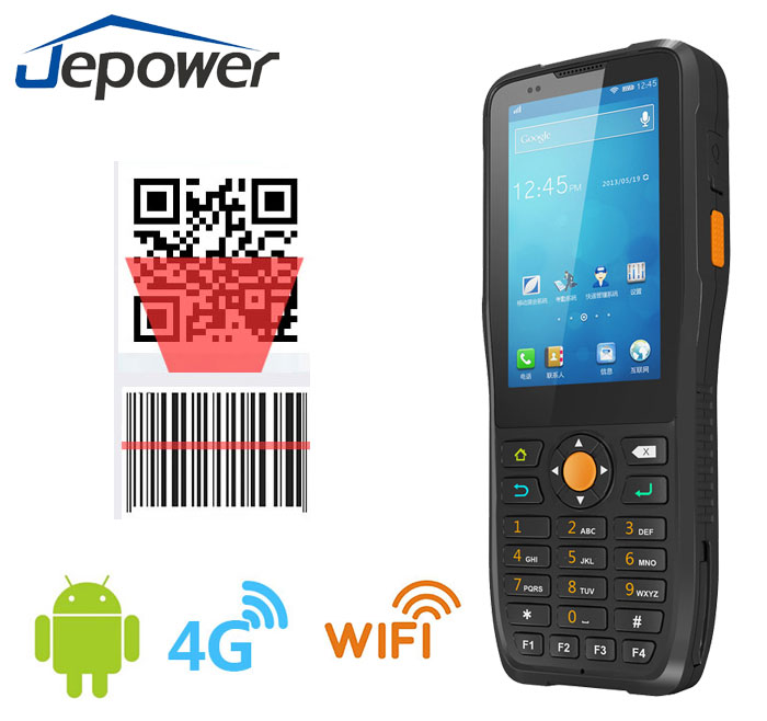 Handheld 1D Scanner NFC Barcode Terminal Android OS Pda