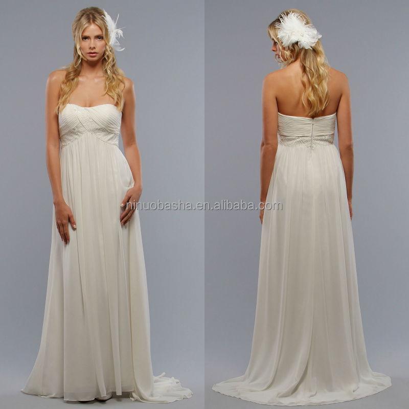 Venta al por mayor vestidos de novia con mangas talle imperio-Compre ...