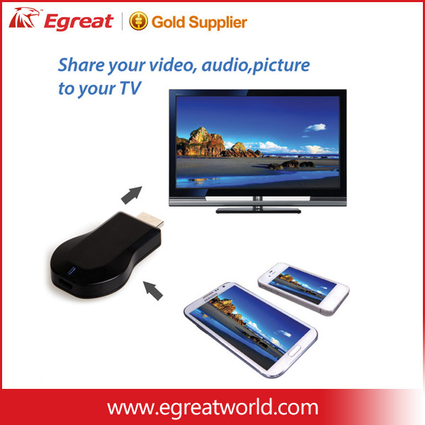 2017 Miracast for iphone with wifi display mirascreen 2.4g dongle