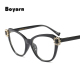 glasses frames for women trends 2018 clear lens purple pink black ladies women cat eye glasses optical rhinestone eyeglasses