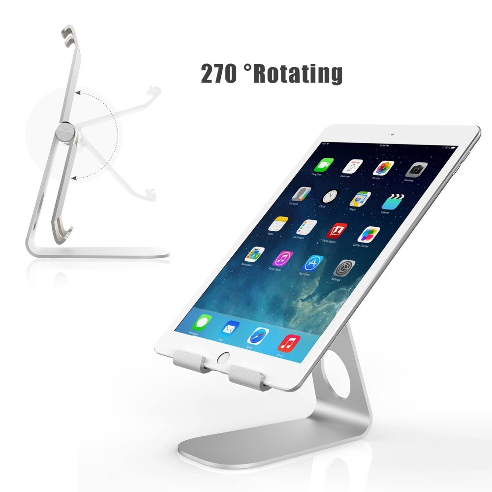 2018 hot sale Aluminum 270 degrees rotation Desktop Bed Tablet Holder universal phone holder