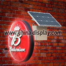 solar panel stand and solar battery power outdoor vacuum forming light box