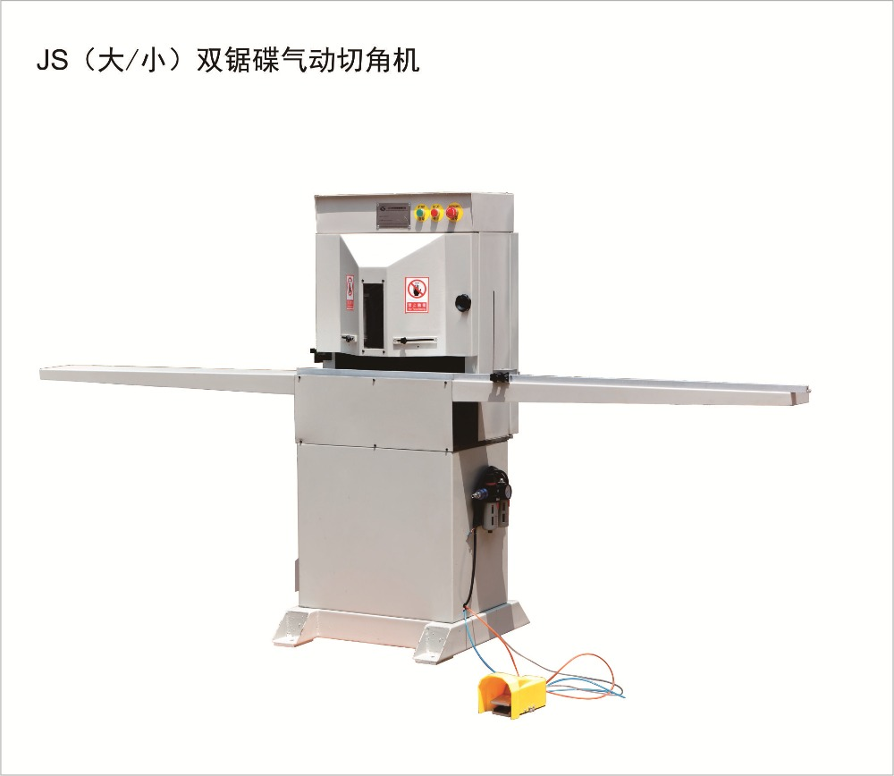 tsj06 double <strong>saw</strong> pneumatic cutting machine mitre guillotine miter <strong>saw</strong> photo frame corner cutting machine