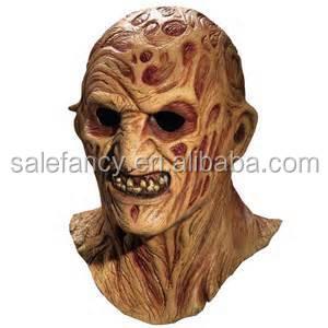 make scary mask deluxe freddy krueger overhead latex mask halloween decoration qmak 2016