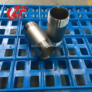 stainless steel pipe fitting male NPT thread large diameter nipples