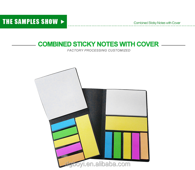 colorful hard cover sticky note/ Square shaped memo pad