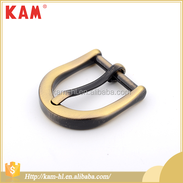 High quality brand name gold color metal pin buckle for shoes
