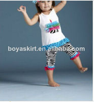 Wholesale Newborn Baby Clothes Set Sleeveless Shirt and Capri Outfits Summer Clothing
