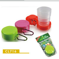 Factory sales promotion cheap high quality folding drinking table with cup holder stacking cup