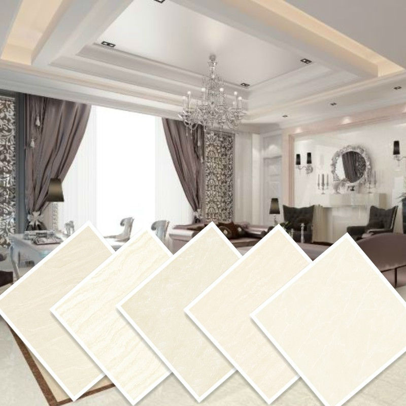 polished vitrified tiles beige cream light color ceramic floor tile