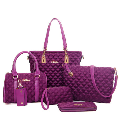 ZH153B Hot sale High quality cheap PU sholder 6pcs set leather <strong>bags</strong> for women