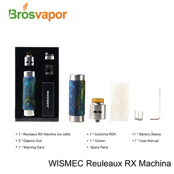 Authentic Wismec Reuleaux RX Machina With Guillotine RDA Mechanical Starter Kit in stock