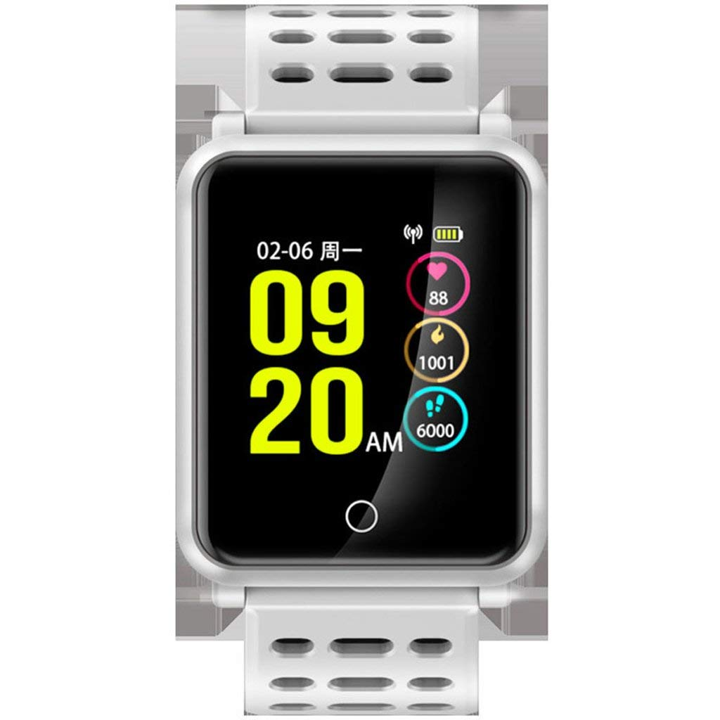 L&Y Fitness Tracker Smart Wrist Watch Phone Heart Rate Monitor Tracke IP68 Waterproof Smart Band With Step Counter GPS Tracker Watch Phone (Color : Silver)