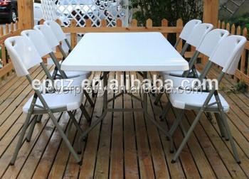 Hoge kwaliteit goedkope outdoor plastic tafel en stoelen witte