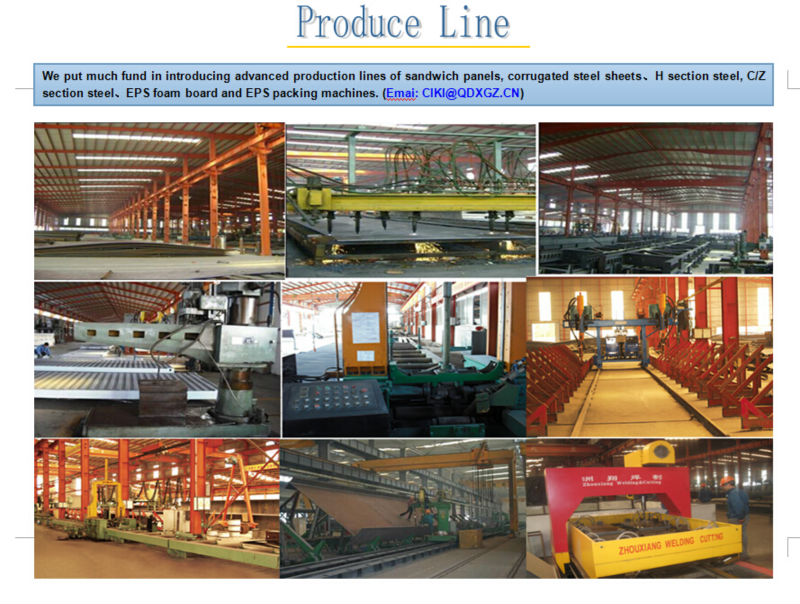 High quality and lowest price steel structure power 8 workshop