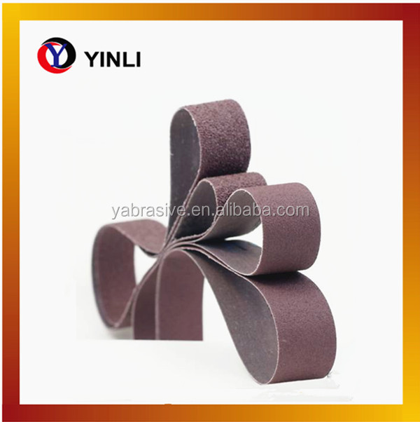 Flexible aluminum oxide abrasive belt for polishing machine